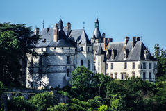 Chaumont sur Loire village and castle, Loir-et-Cher, France Stock Images