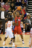 Chauncey Billups Is Guarded By Brevin Knight Stock Photography