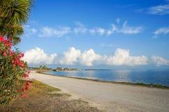 Chaussée de Dunedin, la Floride, Etats-Unis image stock