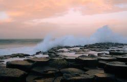Chaussée de Giants, Irlande du Nord Image libre de droits