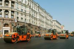 Chaussée de ville de construction nouvelle Photos libres de droits