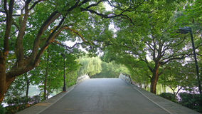 Chaussée du lac occidental, Su photographie stock