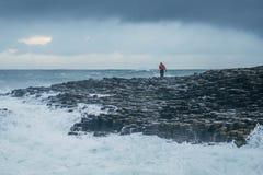 Chaussée géante du ` s, Irlande du Nord Photo stock