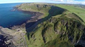 Chauss?e rocailleuse Irlande du Nord de Giants de littoral photos libres de droits