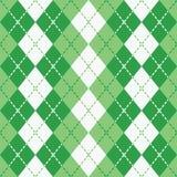 Chaussette avec des losanges à tiret dans vert et blanc Photo libre de droits