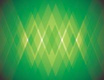 Chaussette avec des losanges verte Photos libres de droits