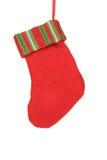 Chaussette décorative de rouge de Noël. Photographie stock libre de droits
