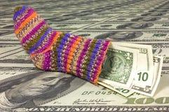 Chaussette d'économie   Images stock