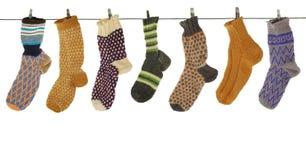 chaussette de cadeau de laine Photo libre de droits