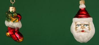 chaussette de Claus Santa de Noël d'american national standard Photographie stock libre de droits