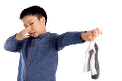 Chaussette de mauvaise odeur photographie stock libre de droits
