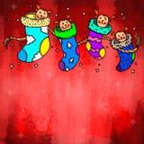 Chaussette de Noël Photographie stock libre de droits