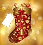 Chaussette de Noël de cadeau Images stock