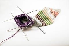 Chaussette de tricotage Photo libre de droits
