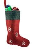 Chaussette rouge de Noël Photos stock