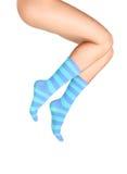 chaussettes bleues photo stock