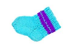 Chaussettes bleues tricotées Image libre de droits