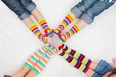 Chaussettes colorées Photographie stock libre de droits