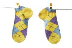 Chaussettes colorées Photos stock
