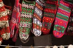 Chaussettes colorées de laines Image libre de droits