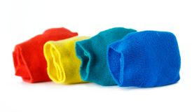 Chaussettes colorées pliées Images stock