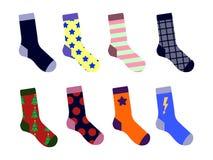 Chaussettes colorées réglées Avec la photo Vecteur plat de conception Images libres de droits