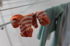 Chaussettes de bébé Photos stock