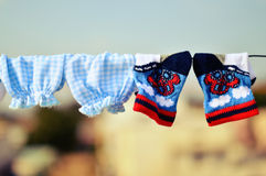 Chaussettes de bébé photo libre de droits