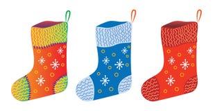Chaussettes de cadeau de Noël Photo stock