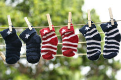 chaussettes de chéri Photos libres de droits