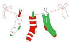 Chaussettes de Noël Images stock