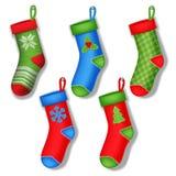 Chaussettes de Noël Photographie stock libre de droits