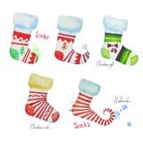 Chaussettes de Noël Photos libres de droits