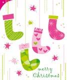 chaussettes de Noël Image libre de droits