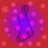Chaussettes de Noël de vecteur Image stock