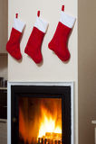 Chaussettes de Santa Photo libre de droits