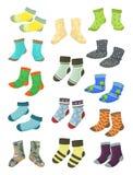 Chaussettes pour de petits garçons Photo stock