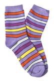 Chaussettes rayées Photos libres de droits