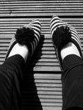 Chaussettes rayées images libres de droits