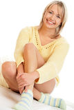 Chaussettes s'usantes de femme Images libres de droits