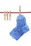 Chaussettes sur la corde à linge Photographie stock libre de droits