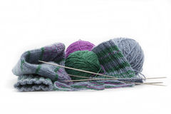 Chaussettes tricotées à la main Image libre de droits