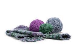 Chaussettes tricotées à la main Photos stock
