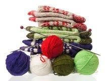 Chaussettes tricotées Images libres de droits