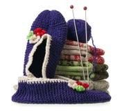chaussettes tricotées Images stock