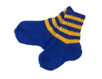 Chaussettes tricotées pour l'enfant Image stock