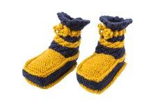 Chaussettes tricotées pour l'enfant Images libres de droits