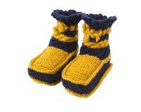 Chaussettes tricotées pour l'enfant Photo stock