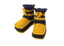 Chaussettes tricotées pour l'enfant Photos stock