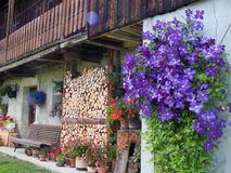Chaussise,val d`arly,savoie,france. Farmhouse in the french alps stock images